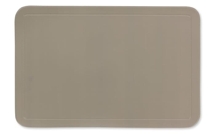 Tischset Uni in taupe, 28.5 x 43.5 cm