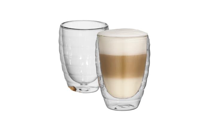 Latte Macchiato Cesena in Klarglas, 2-teilig