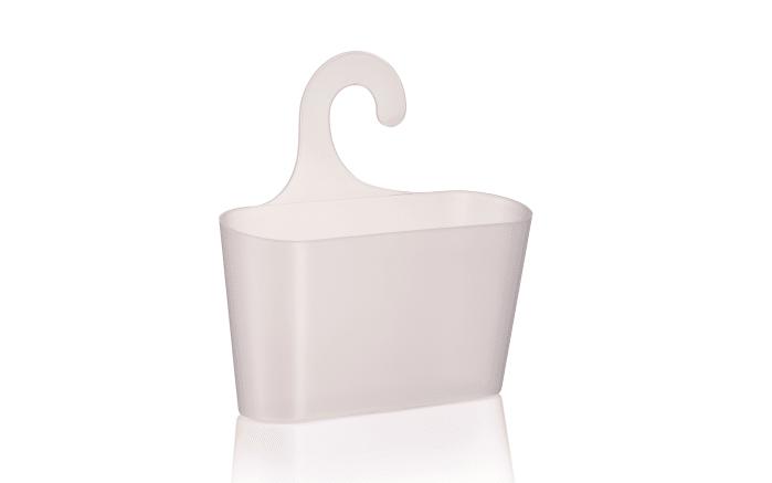 Hängekorb Maggy in weiß transparent