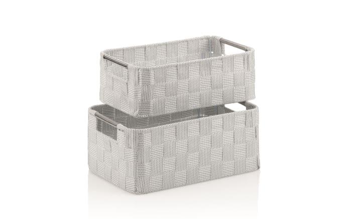 Korb-Set Porto in weiß, 2-teilig