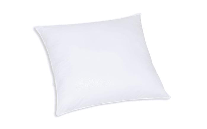 Faserbällchen-Kissen Kansas in weiß, 80 x 80 cm