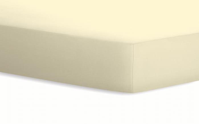 Spannbetttuch Jersey in creme, 100 x 200 cm