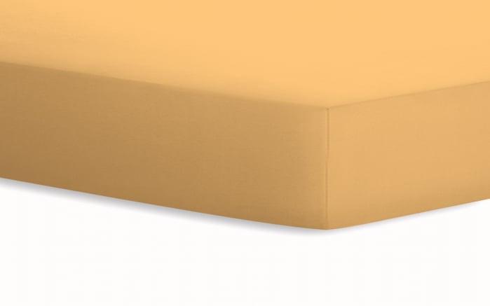Spannbetttuch Jersey in curry, 100 x 200 cm