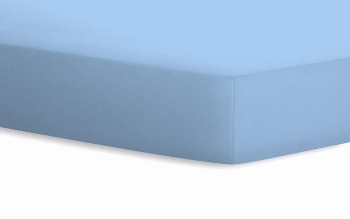 Spannbetttuch Jersey in hellblau, 90 x 190 x 20 cm