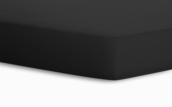 Spannbetttuch Jersey in schwarz, 90 x 190 x 20 cm