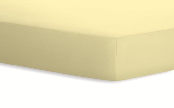 Spannbetttuch Jersey in kamille, 90 x 190 x 20 cm
