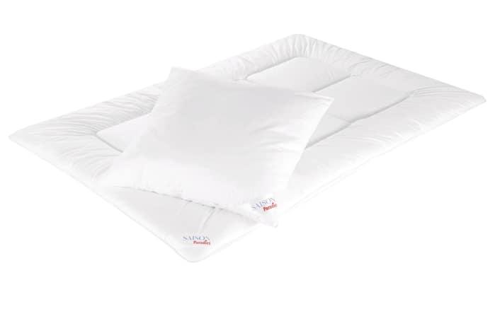 Schlummer-Bettenset in weiß, 135x200cm