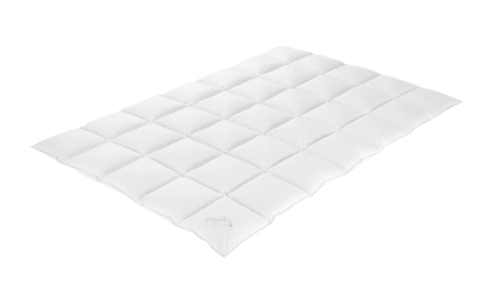 Kassettendaunenbett Aurora in weiß, 135 x 200 cm