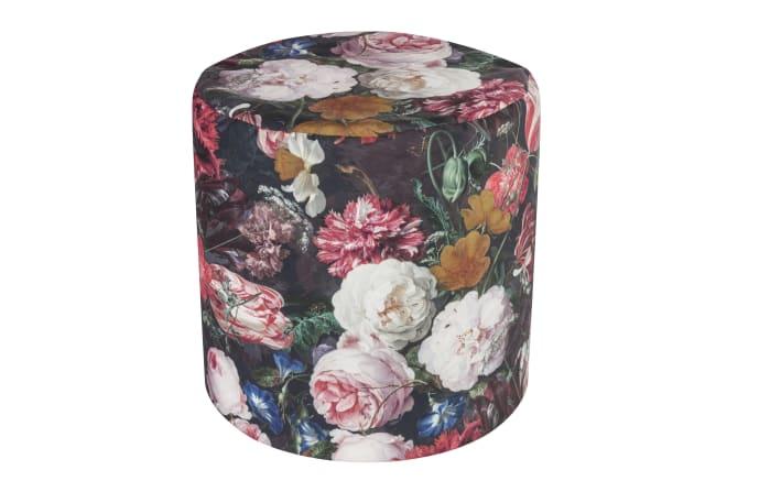 Hocker Fiore mit Blumen-Aufdruck
