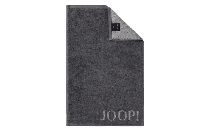 Gästetuch Joop! Classic Doubleface in anthrazit, 30 x 50 cm