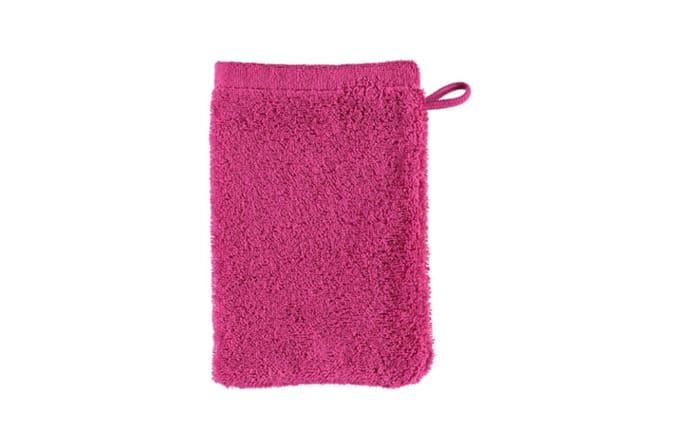 Waschhandschuh Lifestyle uni in pink, 16 x 22 cm