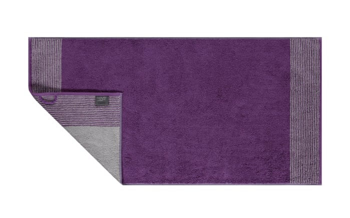 Duschtuch Two-Tone in purpur, 80 x 150 cm