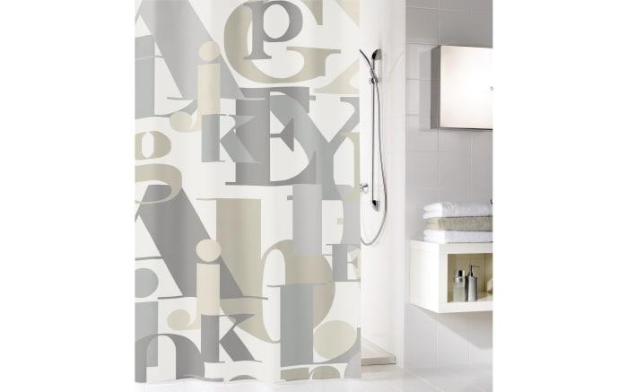 Duschvorhang Letter in natur, 180 x 200 cm