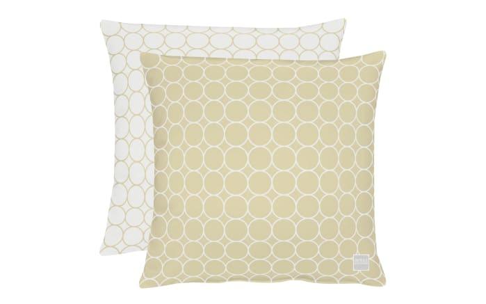 Kissenhülle in beige, 46 x 46 cm