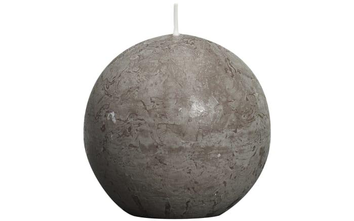 Kugelkerze Rustik in taupe, 8 cm