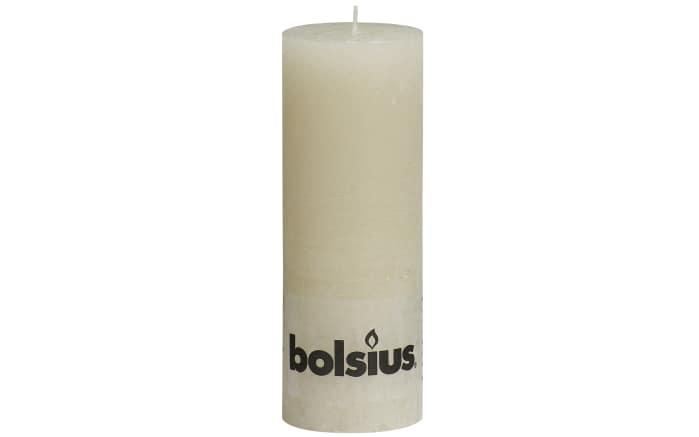 Stumpenkerze Rustik in elfenbein, 19 cm