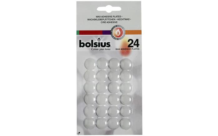 Wachsklebeplättchen in weiß, 24er-Pack