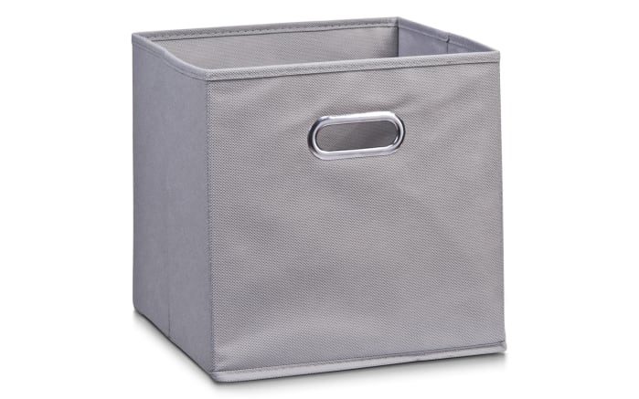 Aufbewahrungsbox in grau, 28 x 28