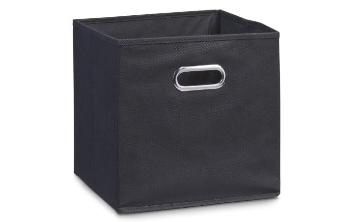 Aufbewahrungsbox in schwarz, 28 x 28 cm
