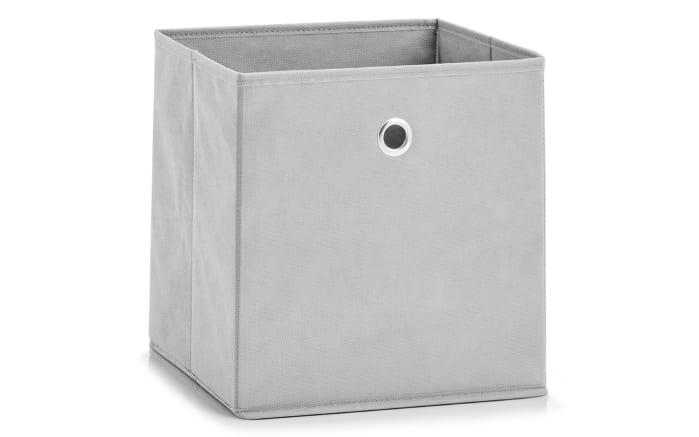 Aufbewahrungsbox in hellgrau, 28 x 28