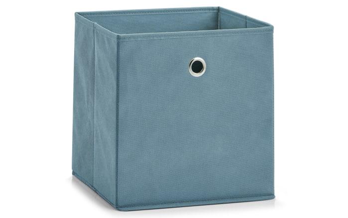 Aufbewahrungsbox in rauchblau, 28 x 28