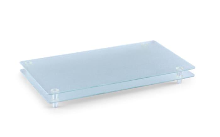 Glasschneideplatte für 4-Plattenkochfeld in matt transparent, 50 x 30 x 3 cm