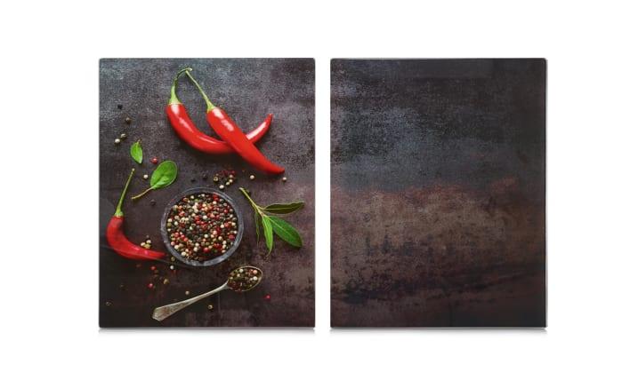 Herdabdeck-/Schneideplatten Chili XL 2er-Set, 40 x 52 cm
