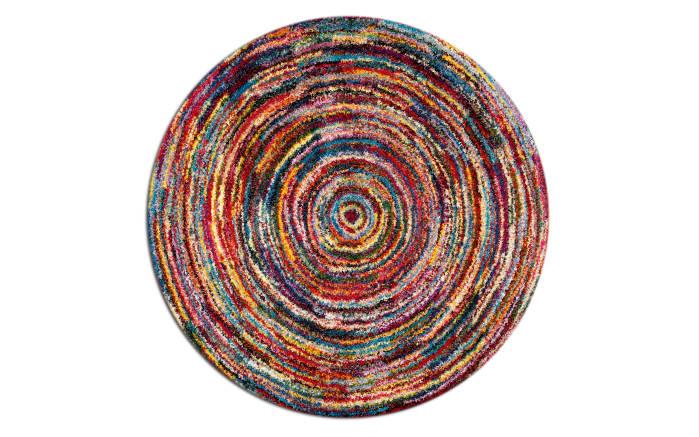 Webteppich Sixteen Round in bunt, 160 cm
