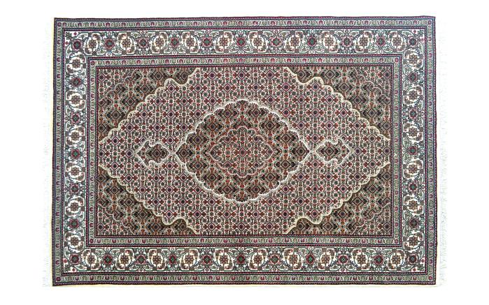 Teppich Täbriz Mahi Super in creme, 70 x 140 cm