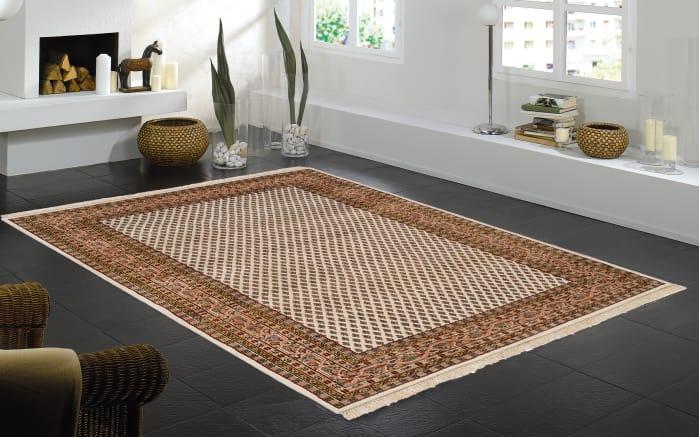 Teppich Sarough Mir Spezial in beige, 40 x 60 cm