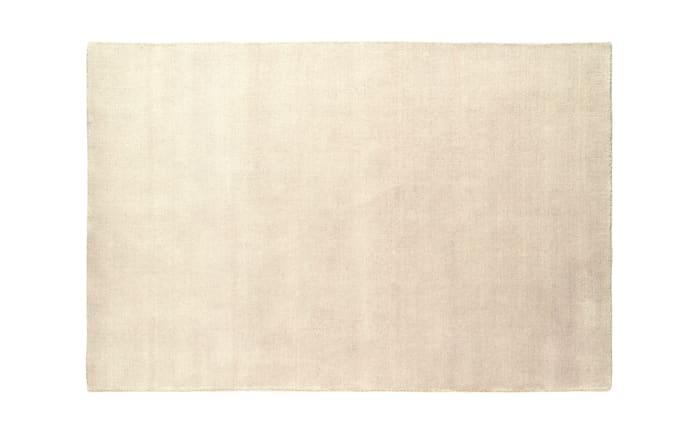 Teppich Gabbeh Uni in beige, 80 x 150 cm