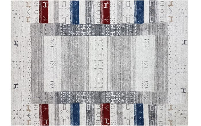 Teppich Loriloom Royal Collection in silber, 70 x 140 cm