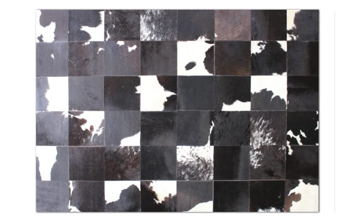 Fellteppich black & white in 90 x 160 cm