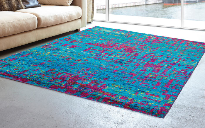 Teppich Queen in blau 160 x 230 cm